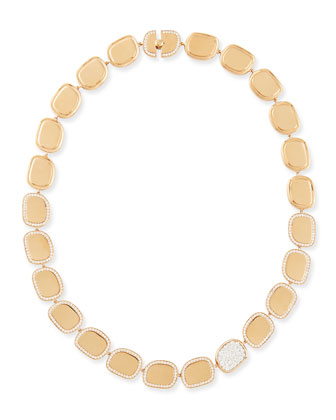 18k Rose Gold Diamond African Jade Collection Necklace