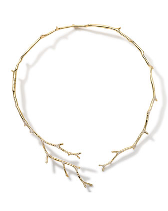 18k Gold Stardust Multi-Branch Necklace with Diamonds