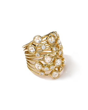 18K Gold Multi-Bezel Ring with Diamonds