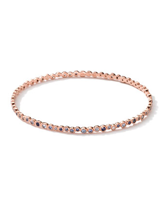 18k Rose Gold Blue Sapphire Starlet Bangle