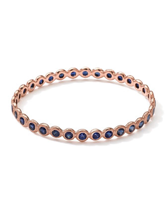 Couture 18k Rose Gold Dark Blue Sapphire Bangle