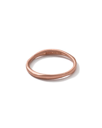 18k Rose Gold Matte Squiggle Ring
