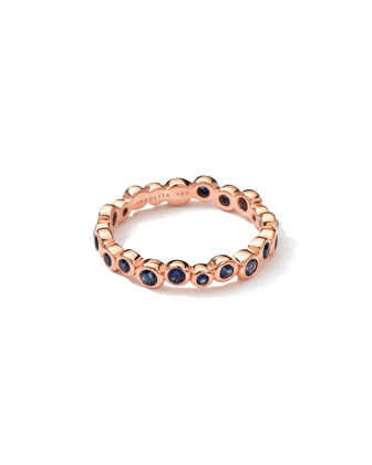 18K Rose Gold Starlet Ring in Blue Sapphire