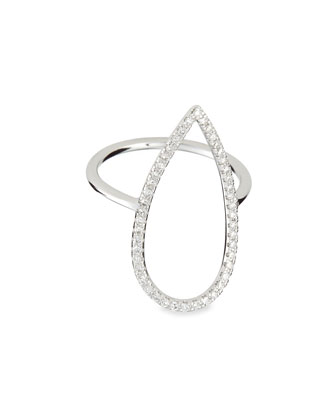 White Gold Diamond-Pear Ring