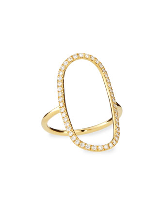 Yellow Gold Diamond-Oval Ring