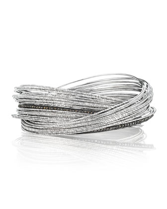 Spring Sterling Silver Bracelet w/ Interlaced Stacks