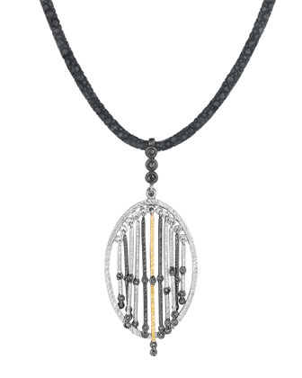 Spring Silver & Gold Pendant with Diamonds