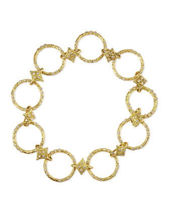 Dulcinea Circle-Link Diamond Bracelet