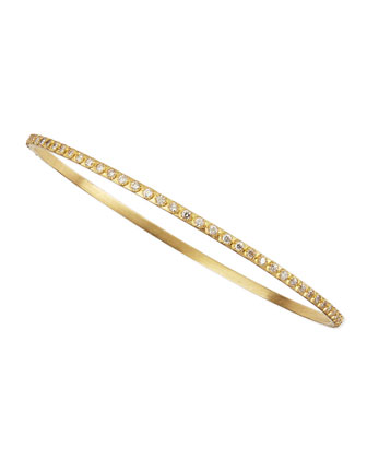 Sueno 18k White Diamond Bangle