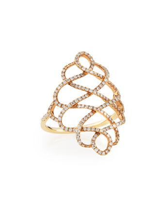 Zigzag Diamond Ring