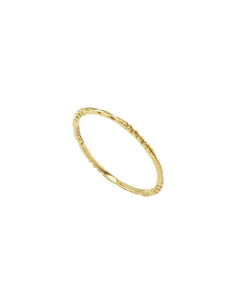 18k Gold Caviar 4-Station Stackable Ring