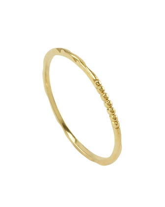 18k Gold Caviar 1-Station Stackable Ring