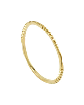 18k Gold Caviar 3-Station Stackable Ring