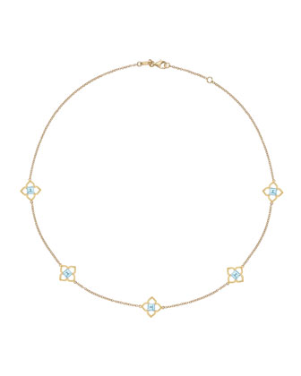 Aurora Blue Topaz & Diamond Necklace
