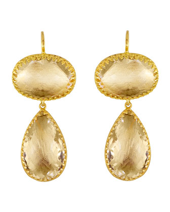 Lily Gold-Dipped Topaz Earrings