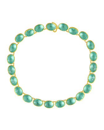 Lily Riviere Gold-Washed Topaz Necklace, Celadon