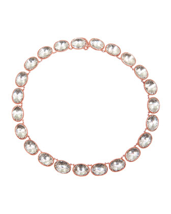 Lily Riviere Gold-Washed Topaz Necklace, White