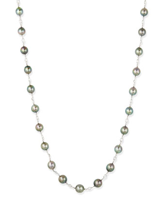 Gwyneth Black Tahitian Pearl & Moonstone Necklace