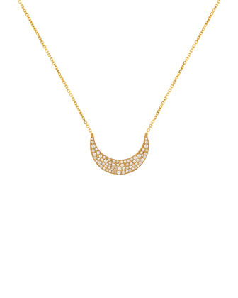 Fly Me To The Moon Diamond Pendant Necklace