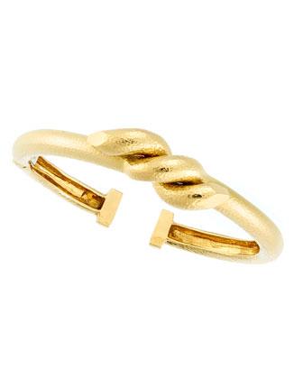18k Twisted Nail Cuff Bracelet