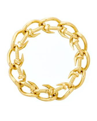 18k Polished Nail Link Bracelet
