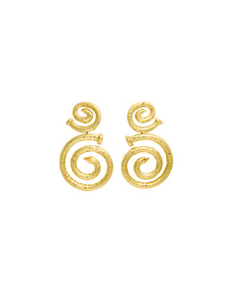 18k Hammered Spiral Nail Earrings