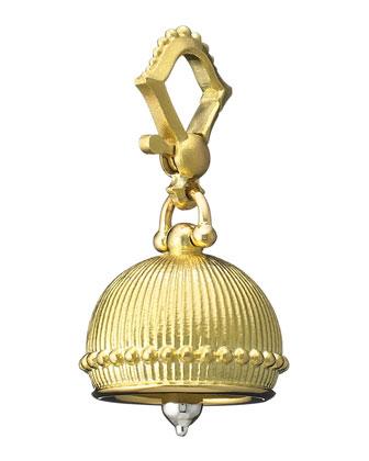 18k #3 Plain Meditation Bell Pendant