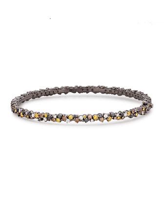Multicolor Diamond Confetti Bangle Bracelet
