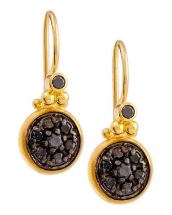 Moonstruck 24k Black Diamond Drop Earrings