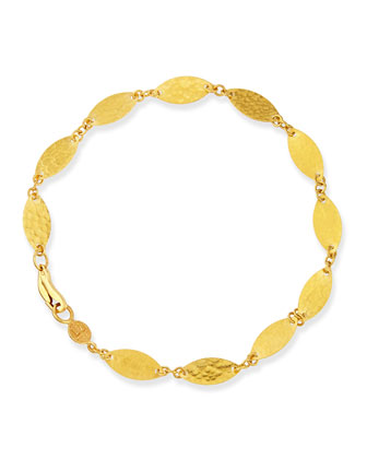 Willow Flake 24k Gold Bracelet