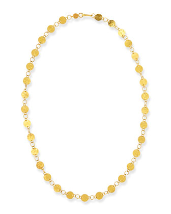 Lush Classic 24k Gold Station Necklace, 18