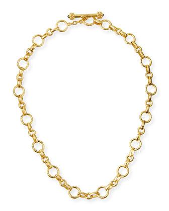 Siena Gold 19k Link Necklace, 17