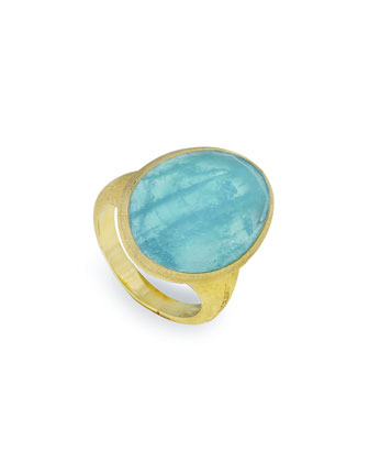 Lunaria 18k Aquamarine Ring