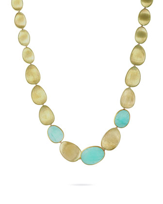 Lunaria 18k Gold Aquamarine Large Collar Necklace