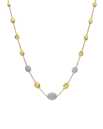 Siviglia Diamond Station Necklace, 18