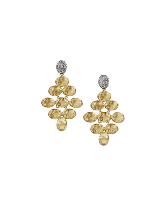 Siviglia Diamond Pyramid Earrings