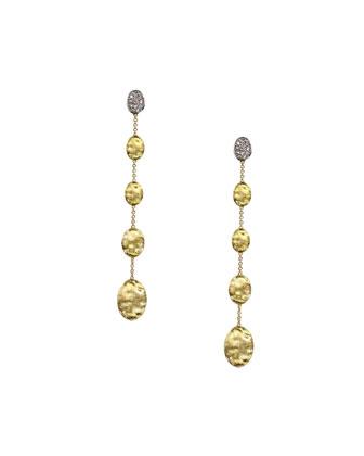 Siviglia Diamond Long Drop Earrings