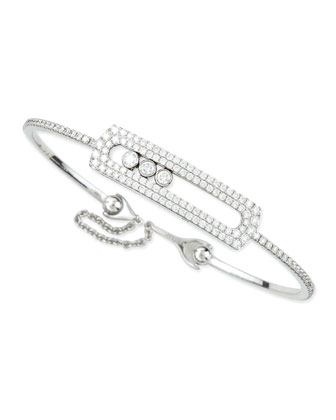 Sliding Diamond Bracelet with Chain