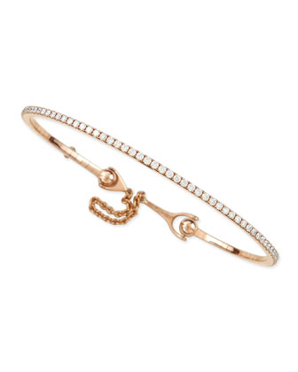 18k Rose Gold & Diamond Bracelet with Chain