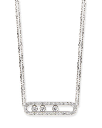18k Sliding Diamond Pendant Necklace