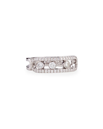 18k Pave Sliding Diamond Ring