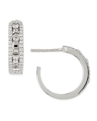 Sliding Diamond Hoop Earrings