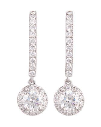 Joy Diamond Halo Drop Earrings