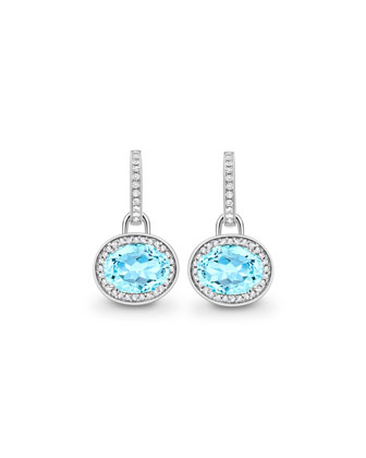 Classic Blue Topaz Diamond Earrings