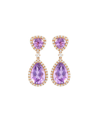 Signature Amethyst & Diamond Drop Earrings