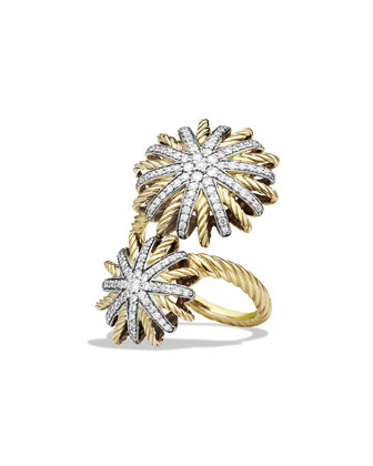 Starburst Open Ring with Diamonds in Gold