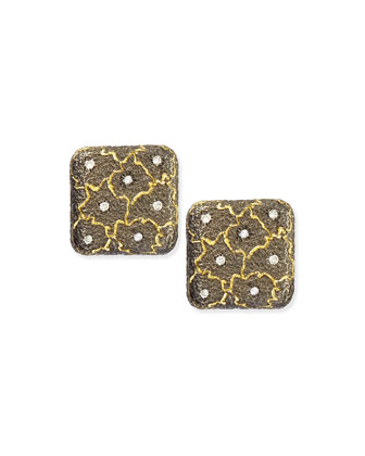 Kisses 18k Gold & Diamond Stud Earrings