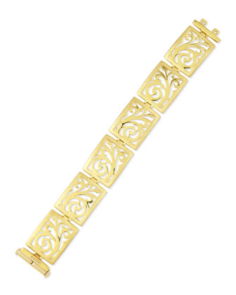 18k Gold Open-Scroll Link Bracelet
