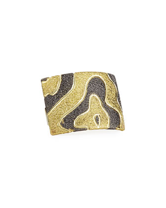 Cora 18k Gold & Dark Platinum Ring