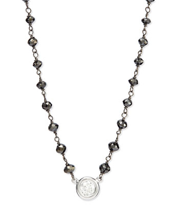 Twilight Bezel-Set Diamond Pendant Necklace